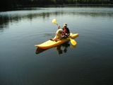kayak and poodle