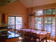 gm dining area is like vacation house, open and similar to a chalet rent and vacation rental in Parry sound, in muskoka, vacation house rentals