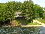 view from waters of otter lake from villa rent and vacation rentals