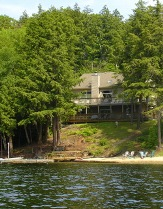 private beach and dock.  Rental comes with a canoe and kayak with optional boat and motor rental. cottage on the beach, in a resort ontario