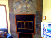 blue heron suite fireplace